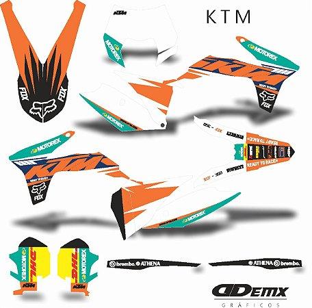 Kit Adesivo 3M ktm FOX MOTOREX