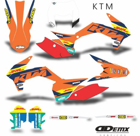 Kit Adesivo 3M ktm DHL 2018 SPEED