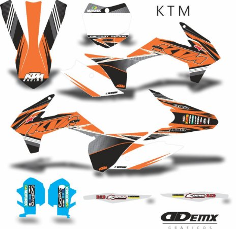 Kit Adesivo 3M ktm ORANGE ATTACK