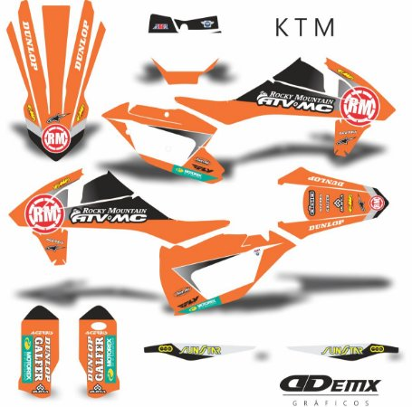 Kit Adesivo 3M ktm ROCK MOUNTAIN ATV MC