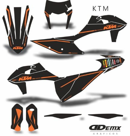 Kit Adesivo 3M ktm ORANGE LINE