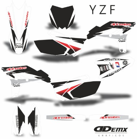 Kit Adesivo 3M YZF ALPINESTARS BLACK