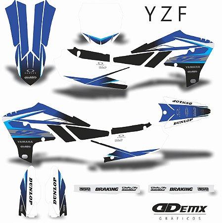 Kit Adesivo 3M  YAMAHA CROSS BLUE