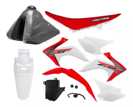 Kit Plastico Crf 230 2018 Protork Adaptável Xr 200 Tornado