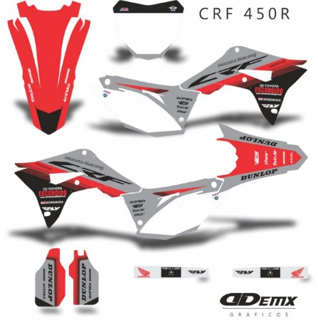Kit Adesivo 3M  HONDA TOYO Crf 250/450R