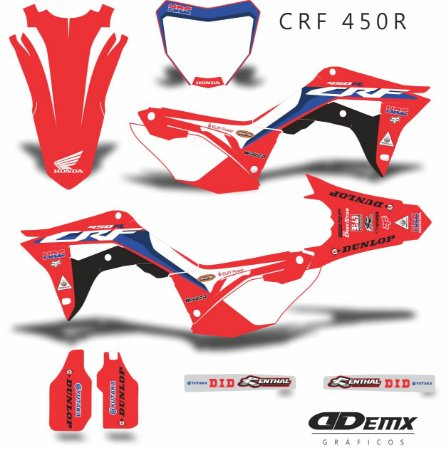 Kit Adesivo 3M Honda TEAM  2020 Crf 250/450R