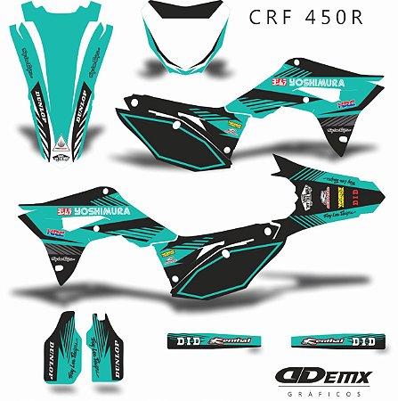Kit Adesivo 3M Honda GREEN LEE Crf 250/450R