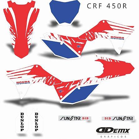 Kit Adesivo 3M Honda BRUSCH SKDA Crf 250/450R