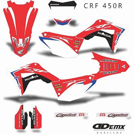 Kit Adesivo 3M HONDA  BLACK CROSSOVER Crf 250/450R