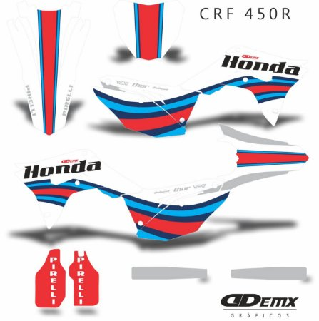 Kit Adesivo 3M HONDA  SKDA RACEWAY Crf 250/450R