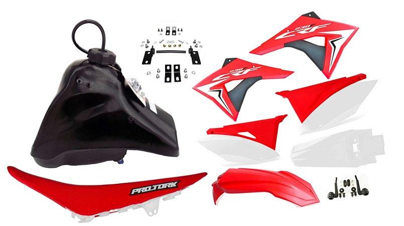 Kit Plastico Elite Biker Crf 230 Adaptável Xr 200 Tornado