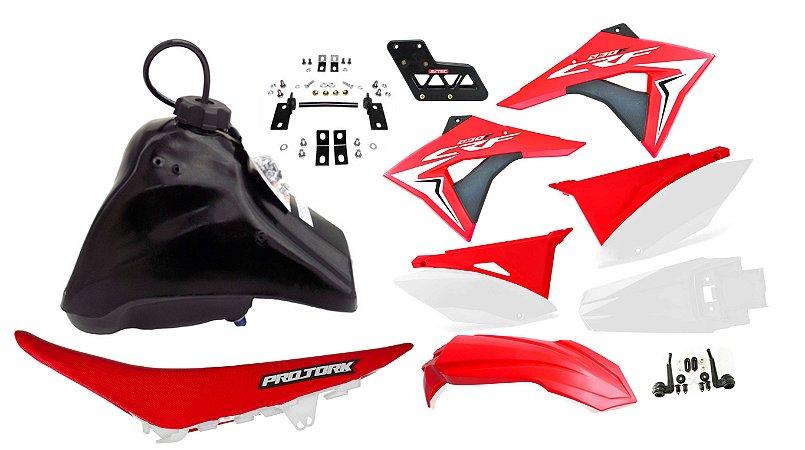 Kit Plastico Amx Premium Crf 230 Adaptável Xr 200 Tornado