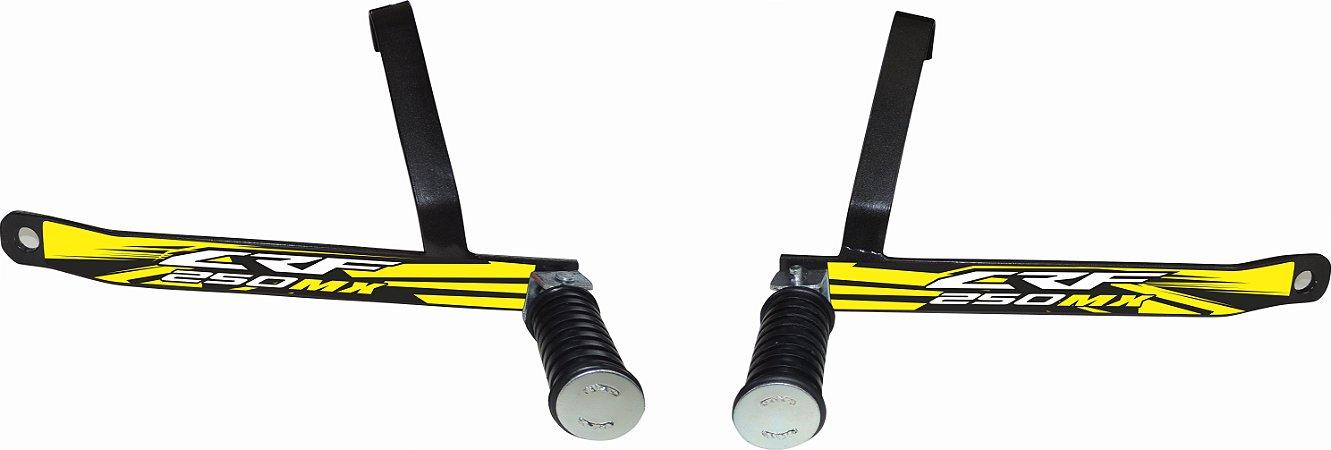 Suporte De Pedaleira Traseira Crf 250f 2019-fácil Instalação - Amarelo