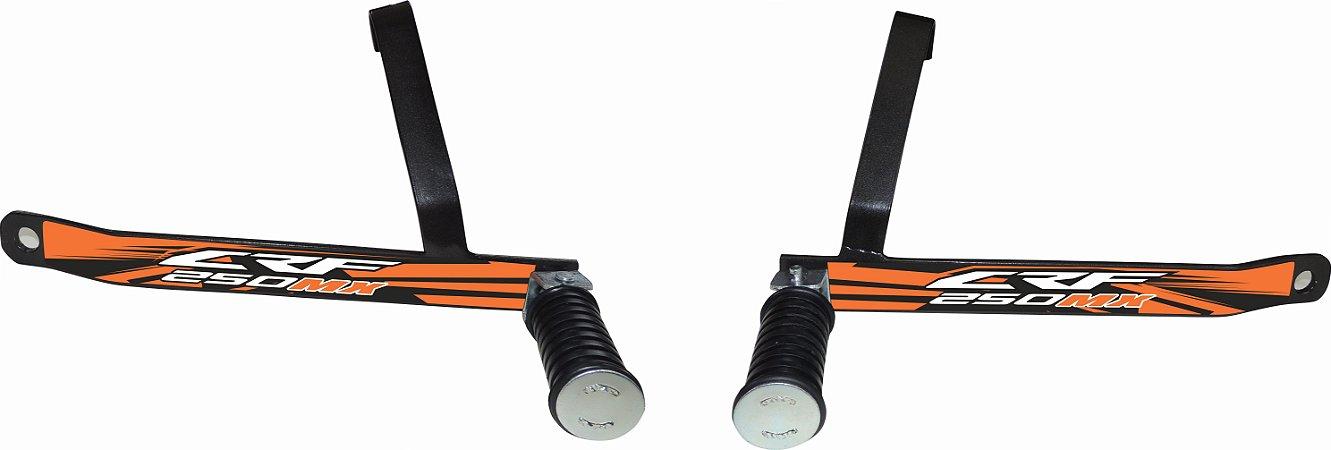 Suporte De Pedaleira Traseira Crf 250f 2019-fácil Instalação - Laranja
