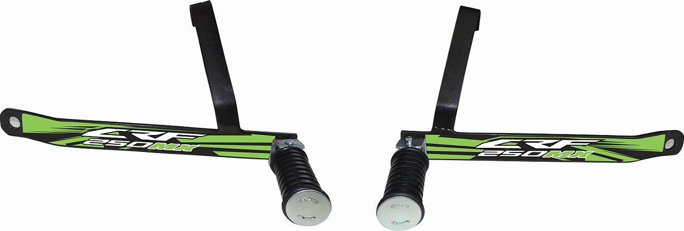 Suporte De Pedaleira Traseira Crf 250f 2019-fácil Instalação - Verde