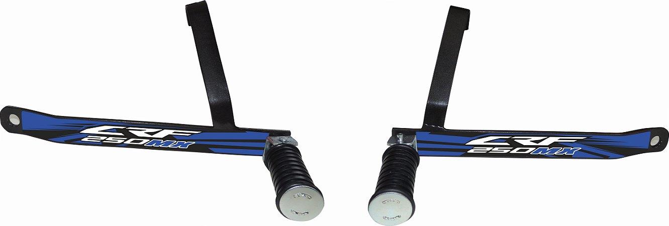 Suporte De Pedaleira Traseira Crf 250f 2019-fácil Instalação - Azul