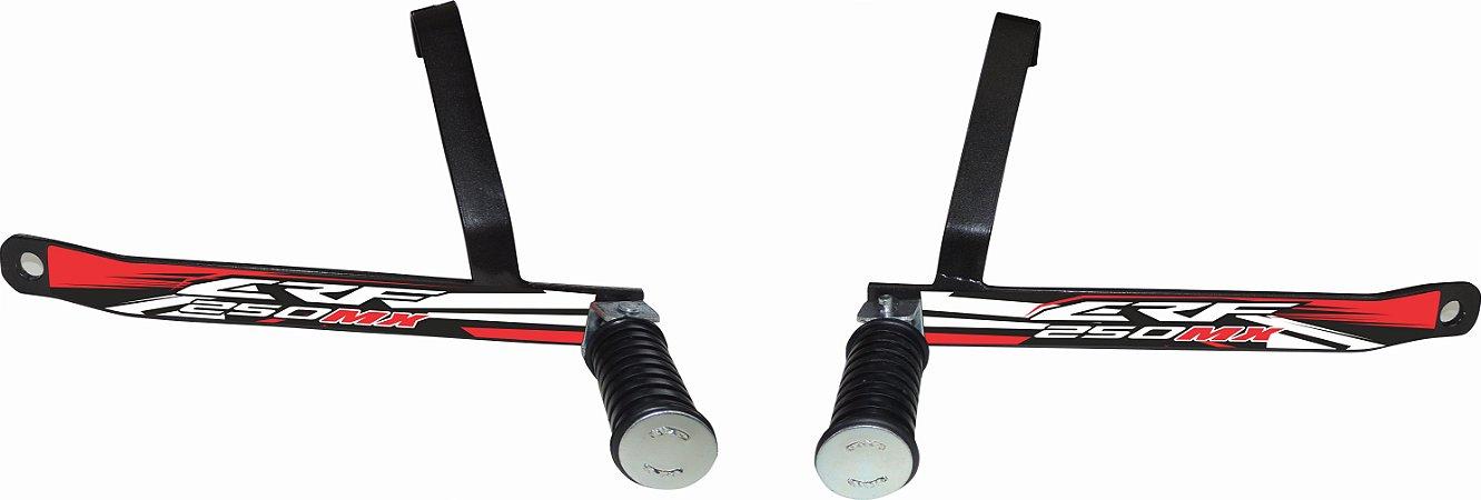 Suporte De Pedaleira Traseira Crf 250f 2019-fácil Instalação - Vermelho