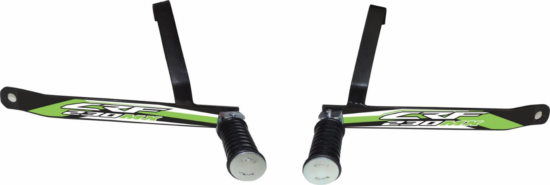 Suporte De Pedaleira Traseira Crf 230 - Fácil Instalação - Verde