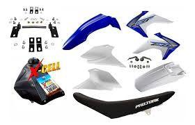Kit Crf 230 2018 Avtec Azul Adaptável Xr 200 + Ferragens