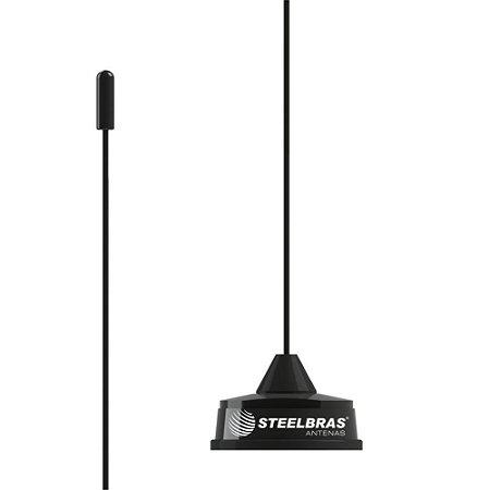 ANTENA MÓVEL VHF E UHF 1/4 DE ONDA BASE WHIP - AP4444