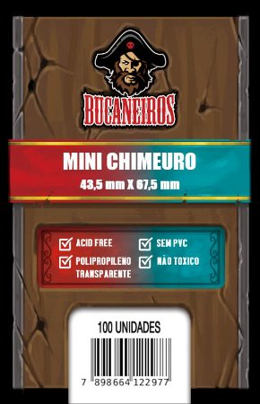 Sleeve Mini Chimeuro (43,5mm x 67,5mm) - FIve Tribes e Catan