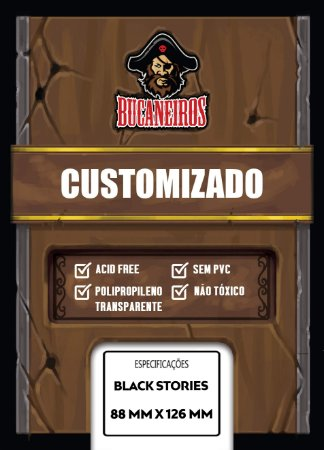 Sleeves Customizados para Black Stories (88 mm x 126 mm) - Bucaneiros