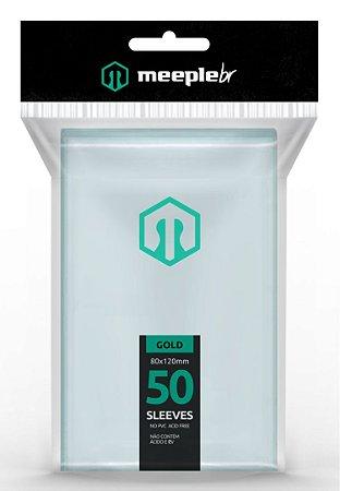 Sleeves Premium Gold (80 mm x 120 mm) - Meeple BR