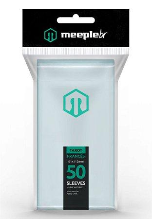 Sleeves Premium Tarot Francês (61 mm x 112 mm)  - Meeple BR