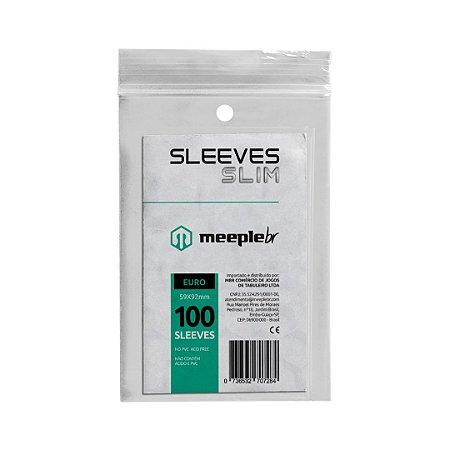 Sleeves Slim Padrão Euro  (59 mm x 92 mm) - Meeple BR