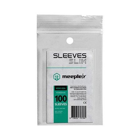 Sleeves Slim Mini USA (41 mm x 63 mm)  - Meeple BR