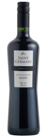 Vinho Saint Germain Merlot - Tinto Meio Seco 750ml