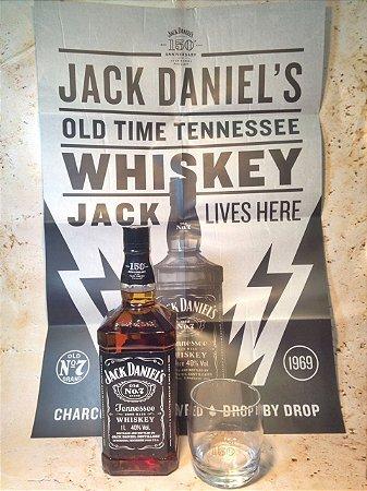 Kit Jack Daniels 1 Litro com 1 Copo e 1 Poster