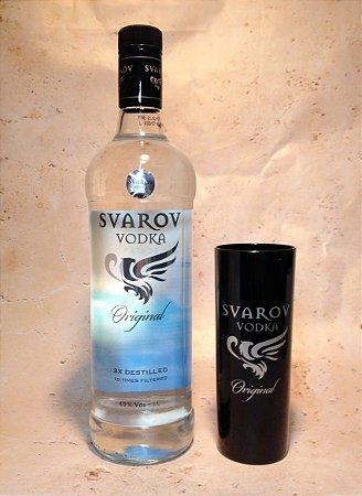 Kit Vodka Svarov 1 litro C/ copo exclusivo