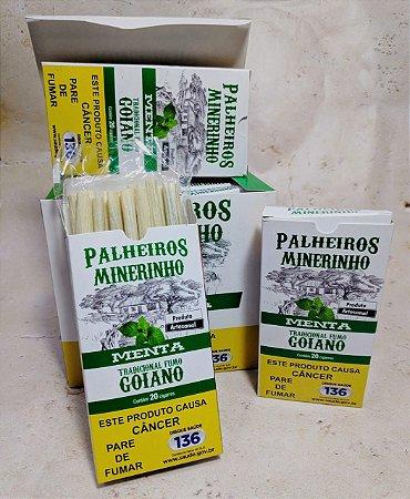 Cigarro de Palha Palheiros Mineirinho Menta 20 Unidades