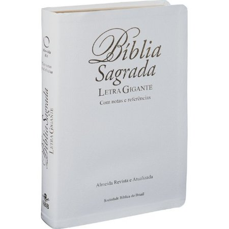 Bíblia Sagrada Letra Gigante Com Notas e Referências Branca