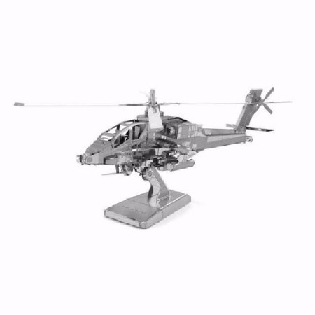 Metal Earth Kit Para Montar - Helicóptero Apache Ah-64