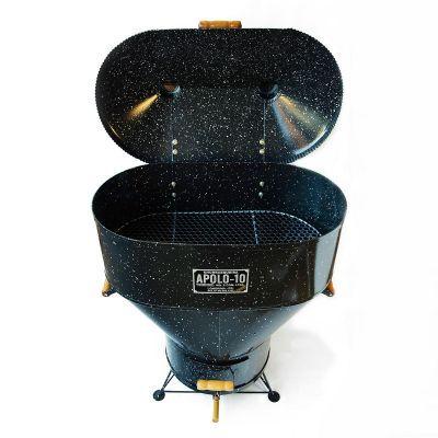 Churrasqueira a Bafo - Apolo 10 - Gás ou Carvão - Capacidade para 15 quilos de carne.