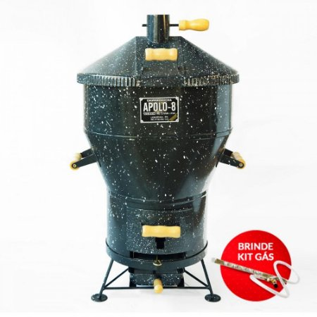 Churrasqueira a Bafo - Apolo 08 - Gás ou Carvão - Capacidade para 5 quilos de carne.