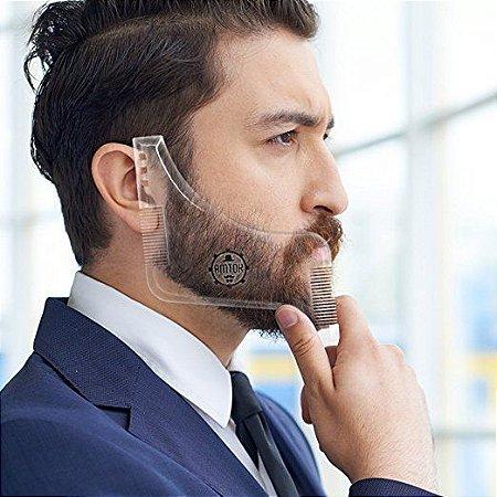 Alinhador Pente Régua Modelador Barba Plástico - Qualidade
