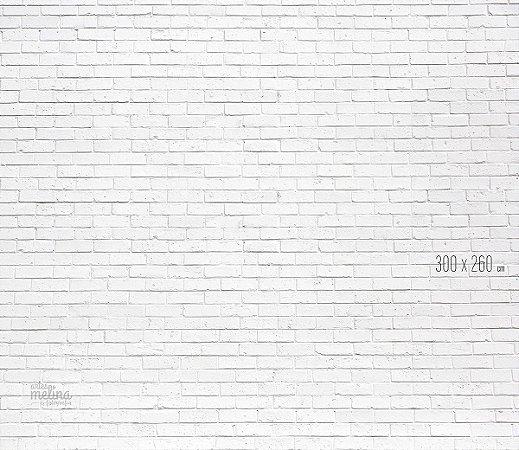 Fundo Fotográfico Tijolinho Branco