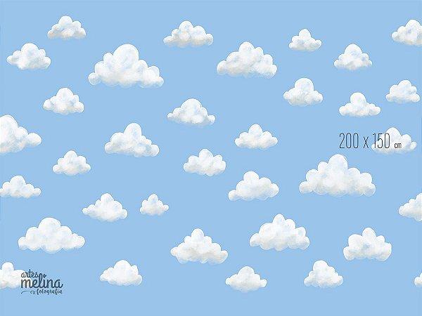 Fundo Fotográfico Nuvens de Algodão