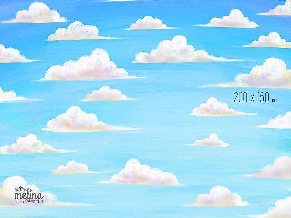 Fundo Fotográfico Nuvens de Verão
