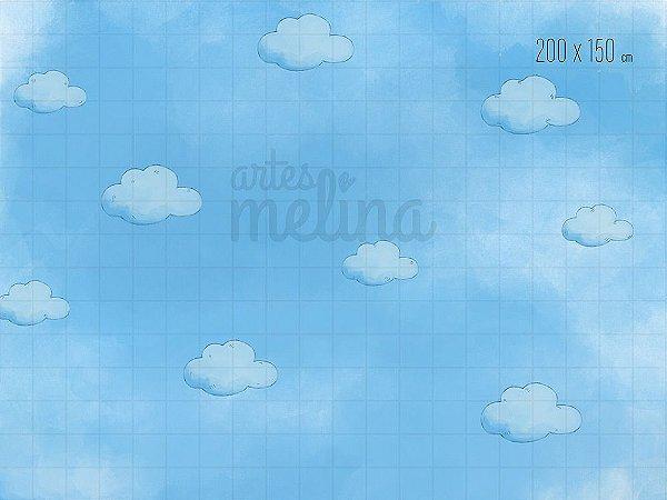 Fundo Fotográfico Nuvens Azuis