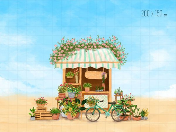 Fundo Fotográfico Loja de Flores