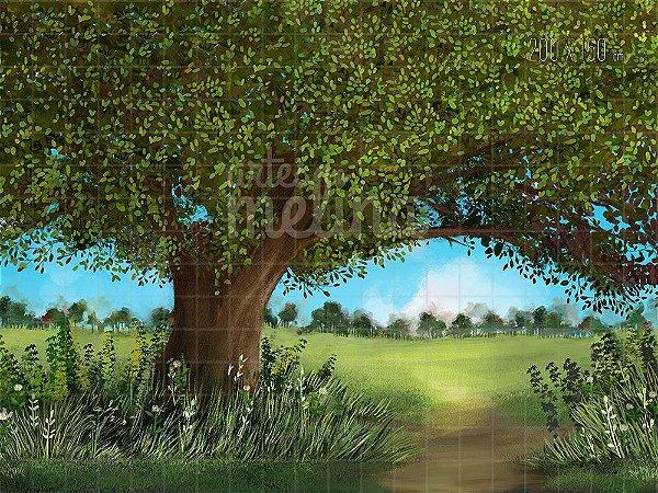 Fundo Fotográfico Árvore do Riacho