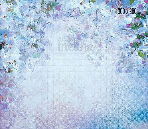 Fundo Fotográfico Flores Lilás