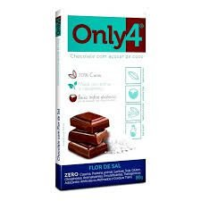 CHOCOLATE 70% CACAU SABOR FLOR DE SAL ONLY4 80g