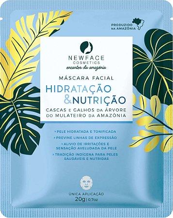 Máscara Facial Hidratação e Nutrição 20g – New Face