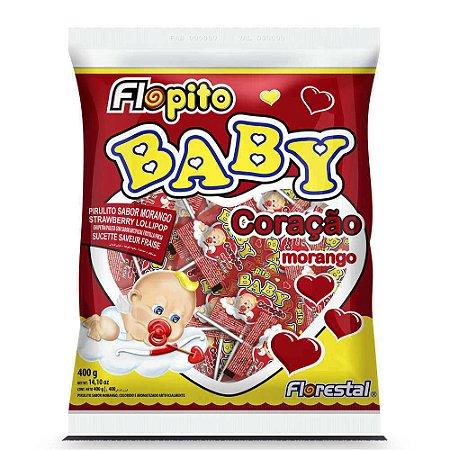 Pirulito Baby Coração Morango 400g