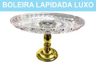 BOLEIRA LAPIDADA LUXO